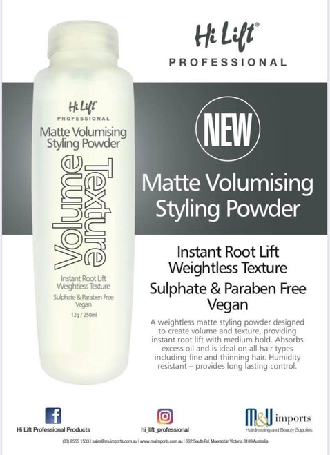 Hi Lift Matte Volumising Styling Powder