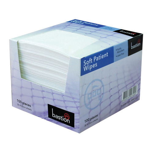 Bastion Soft Patient Wipes Fibrella 100pc