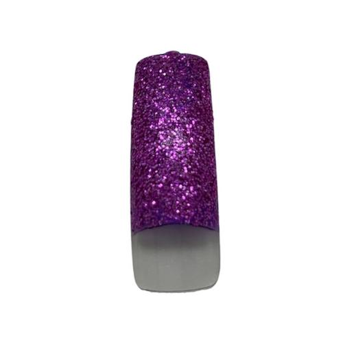 Pre Designed Fuschia Glitter Tips 70pc