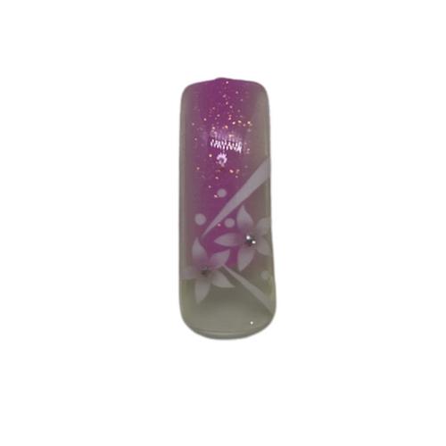Sina Pre Designed Pink Stripe with Floral Design Tips 70pc