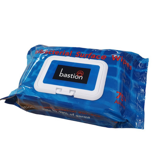 Bastion Antibacterial Surface Wipes 80pc