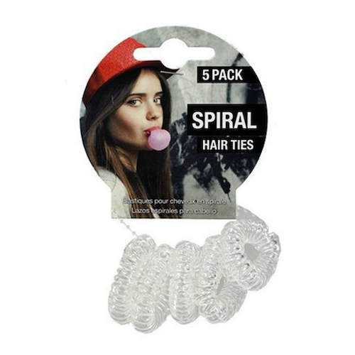Spiral Hair Ties Assorted 5pc