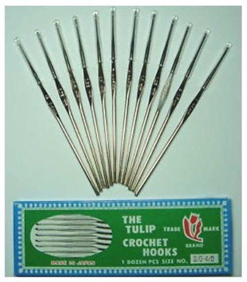 The Tulip Crochet Hooks Stainless Steel 12pc