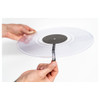 Serato Sticker Lock Vinyl with two hands on it