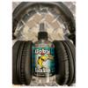 HOSA Goby Labs Headphone Cleaner bottle between over ear headphones