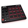 AKAI MPD218 MIDI-over-USB pad controller angled view. EMI Audio