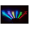 CHAUVET Derby X DMX-512 LED derby effect light shining multi-color lasers onto wall