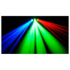 CHAUVET Derby X DMX-512 LED derby effect light shining directly at camera in blue green red