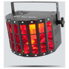 CHAUVET Kinta FX Compact multi-effect with a Kinta, Laser and SMD Strobe front/right view with red lights illuminated