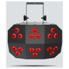 CHAUVET Wash FX 2 multi-purpose effect light with 18 Quad-color (RGB+UV) LEDs direct front view with red lights