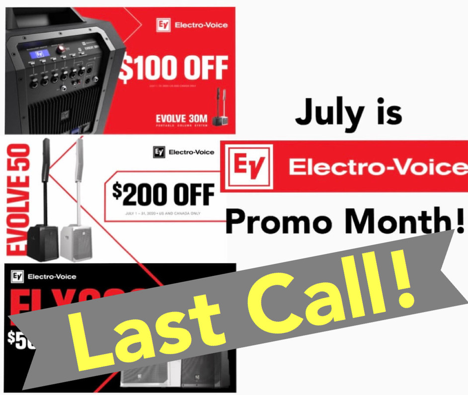 Last call! Last call for EV Evolve July specials!