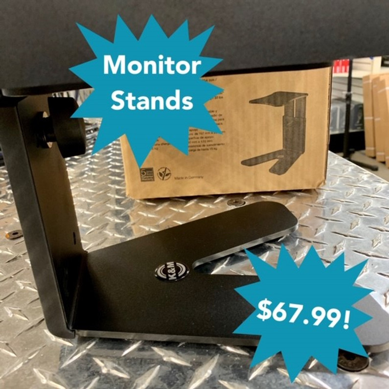 K&M Desktop Monitor Speaker Stands!