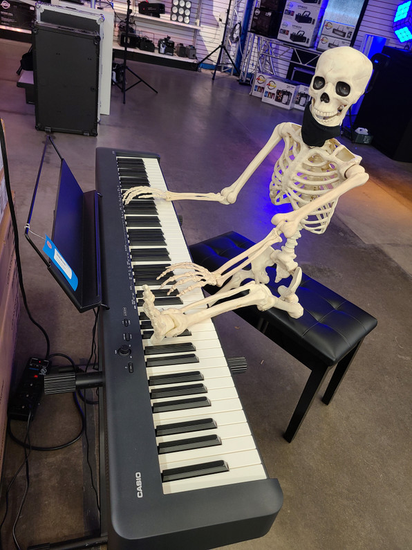 It's Skelton John on the Casio digital piano!