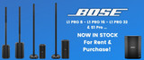 Bose L1 Pro & S1 Pro Speakers For Sale And Rental