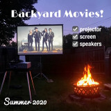 Turn your backyard into your own movie theater!
