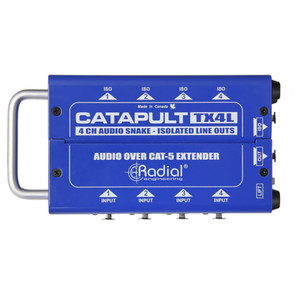 RADIAL Catapult TX4L 4ch transmitter, balanced i/o, line-level transformers top view