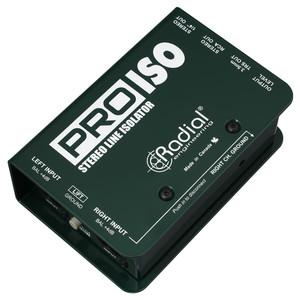 Pro-Iso Balanced +4dB to -10dB unbalanced passive converter angled view