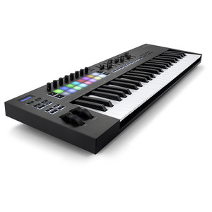NOVATION Launchkey 49 [MK3] MIDI Keyboard Controller front left angle