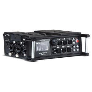 PMD-706 Product shot showing inputs on side, gain adjustments, display and recording functions