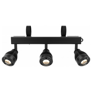 CHAUVET EZbar battery-powered bar with three independent warm white pin spots direct front view