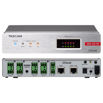 Tascam MM-4D/IN-E Front and Rear EMI Audio