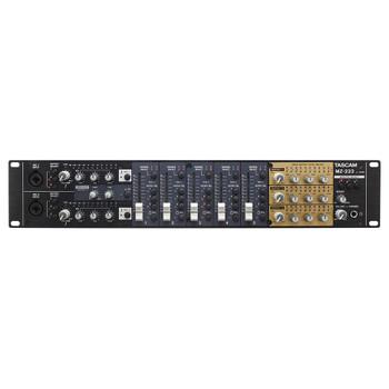 TASCAM MZ-223 TRIPLE OUTPUT ZONE MIXER front view EMI Audio