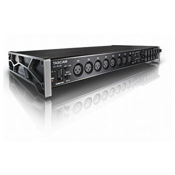 TASCAM US-16x08-16X8 16-input Audio Interface angled view EMI Audio