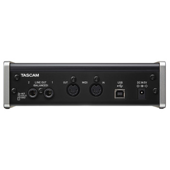 TASCAM US-2x2 TP-CU2-in/2-out Audio/MIDI Interface back