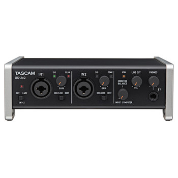 TASCAM US-2x2 TP-CU2-in/2-out Audio/MIDI Interface front