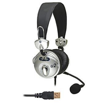 CAD AUDIO U2 USB Stereo Headphones with Cardioid Condenser Microphone