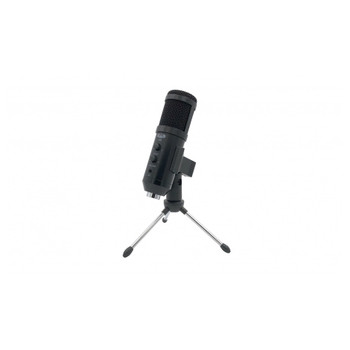 CAD AUDIO U49 USB Side Address Studio Microphone on included tabletop tripod stand