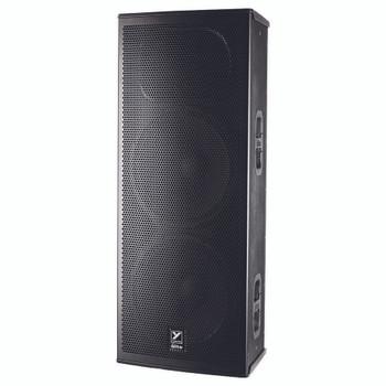 "Yorkville EF215P Elite 1,200 Watt Powered 2 x 15"" Speaker angled view"