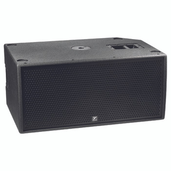 PSA2S 4800 watts peak - powered - dual 15-inch active bass reflex subwoofer with casters. Dual 15-inch - 2400 watts front view