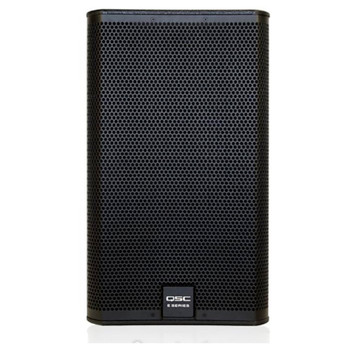 QSC E112 BK 12 inch two Way 1,600 watt Passive Loudspeaker front view. EMI Audio