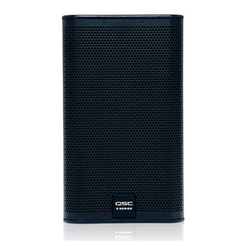QSC E110 10 inch two way passive loudspeaker front view. EMI Audio