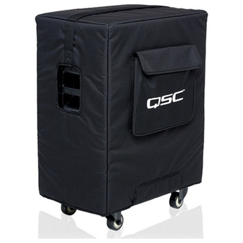 QSC KS212C-CVR Soft, padded cover made with weather resistant, heavy-duty Nylon/Cordura material for KSub with grille guard
