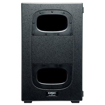 QSC KS212C dual 12 inch 3600W high output subwoofer front view. EMI Audio