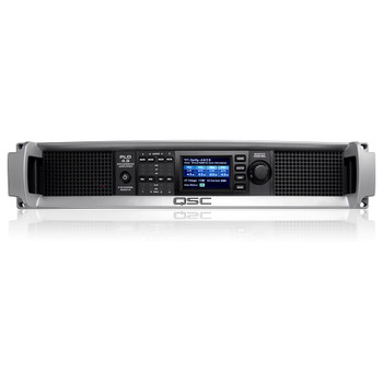 QSC PLD4.5 xx 8000W 4 channel amp front view. EMI Audio