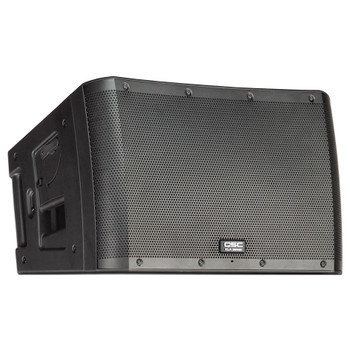 QSC KLA12 12 inch 2 way bi amped 500W 500W full range left angled view. EMI Audio