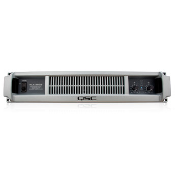 QSC PLX3602 Dual channel amp with PowerLight technology 775 watts/ch front view. EMI Audio