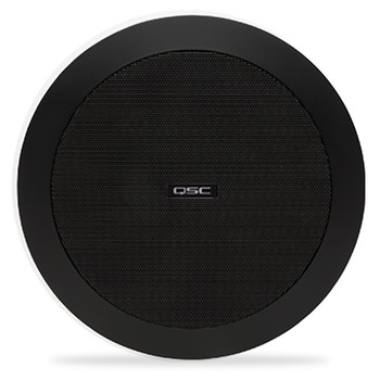 QSC AD C4T BK 4.5 inch black Two way ceiling speaker. EMI Audio