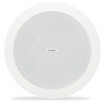 QSC AD C4T WH 4.5 inch white Two way ceiling speaker. EMI Audio