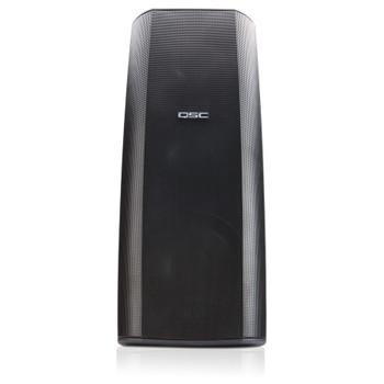 QSC AD S282H BK Dual 8 inch High power two way speaker front view. EMI Audio