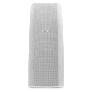QSC AD S282H WH Dual 8 inch white High power two way speaker front view. EMI Audio