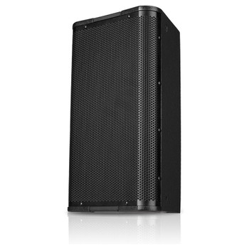 QSC AP 5102 BK 10 two way speaker right view. EMI Audio