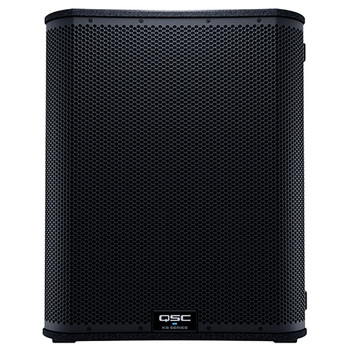 QSC KS118 18 inch 3600W high output subwoofer front view. EMI Audio