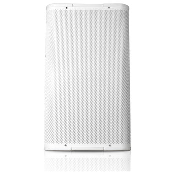 QSC AP 5122 WH 12 white two way speaker front view. EMI Audio