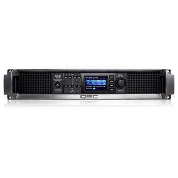 QSC CXD4.3 xx 4000W Amplifier front view. EMI Audio