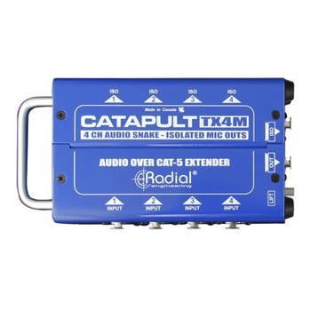 RADIAL Catapult TX4M 4ch transmitter, balanced i/o, mic-level transformers top view