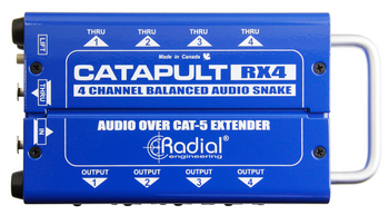 RADIAL Catapult RX4 4ch receiver, with balanced outs top view
